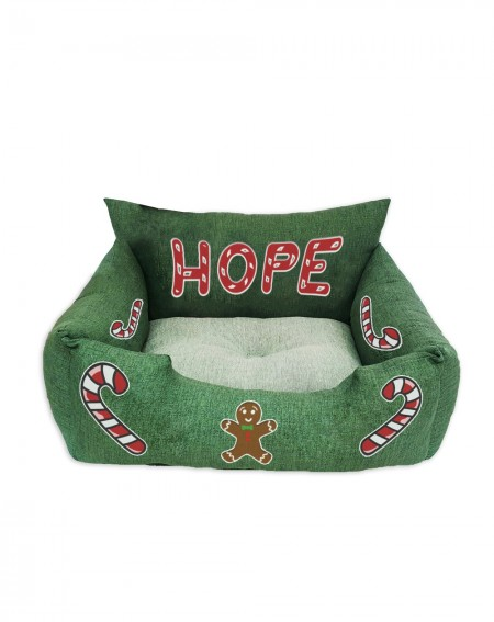 Cuccia natalizia per cani Christmas Candy