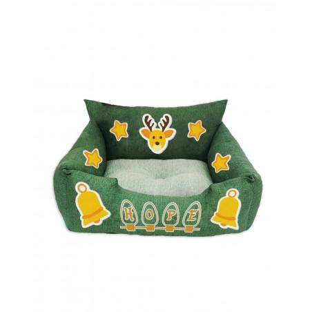 Christmas Bed for dog Bells design