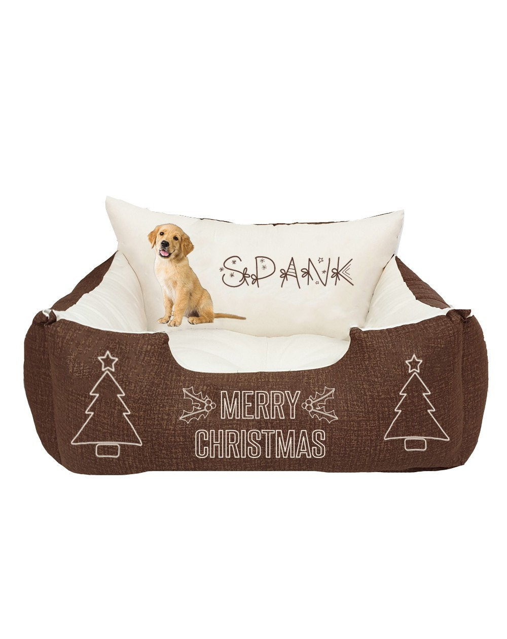 Christmas Bed for dog with photo