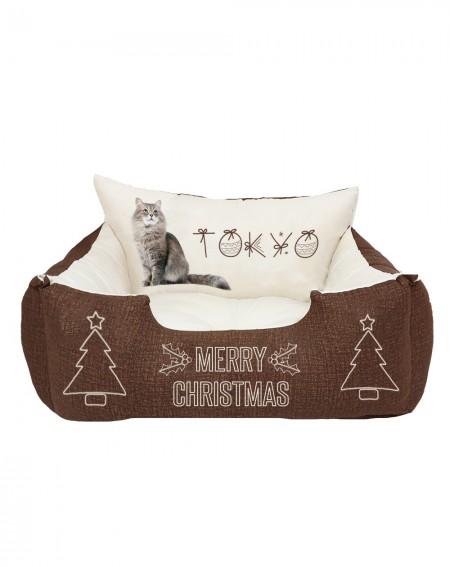 Cuccia natalizia con foto gatto Christmas