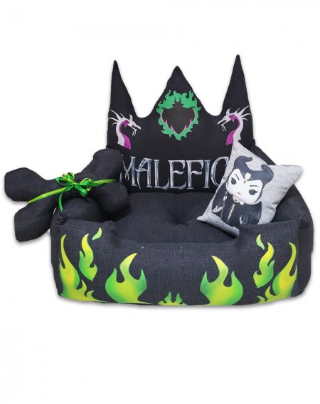 Personalized Dog Bed Maleficent
