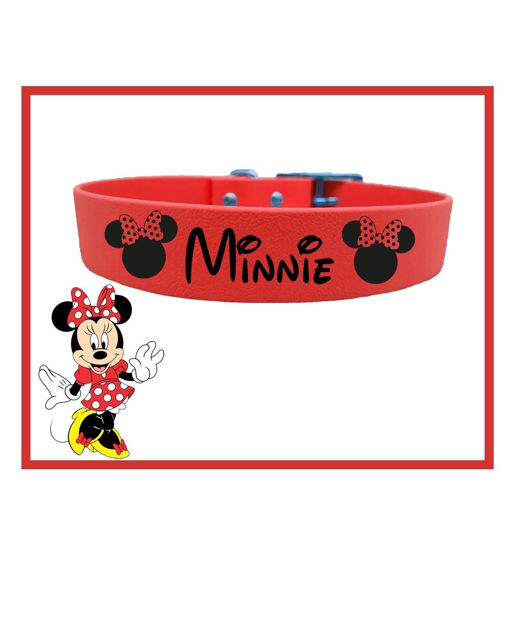 Collare personalizzato con nome per cani modello Minnie