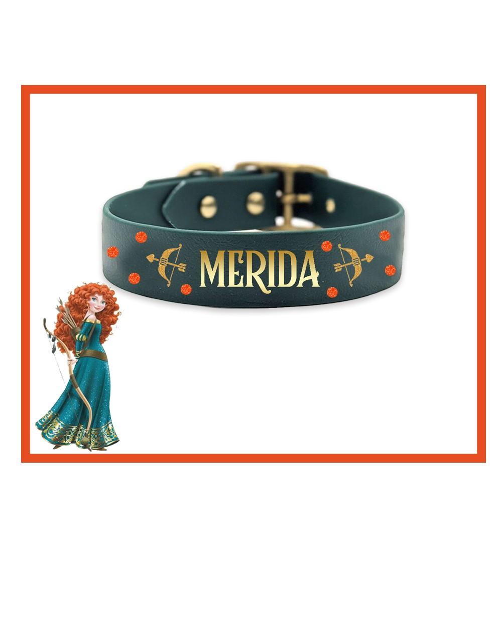 Collare personalizzato con nome per cani modello Merida