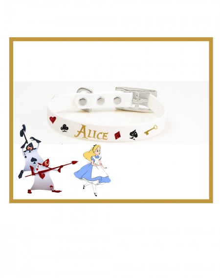 Personalized Collars Dog's Name Alice in Wonderland