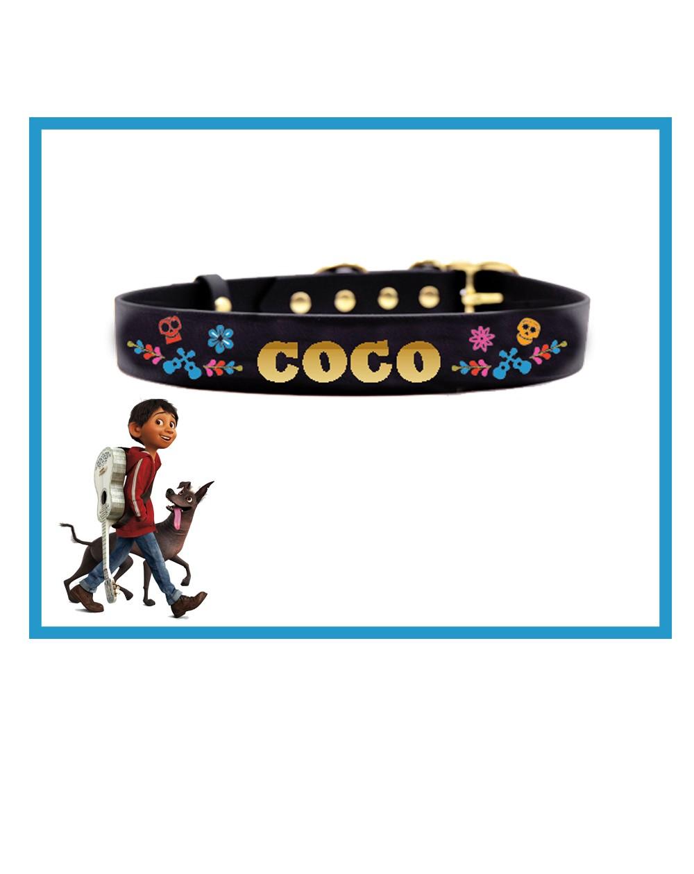 Collare personalizzato con nome per cani modello Coco
