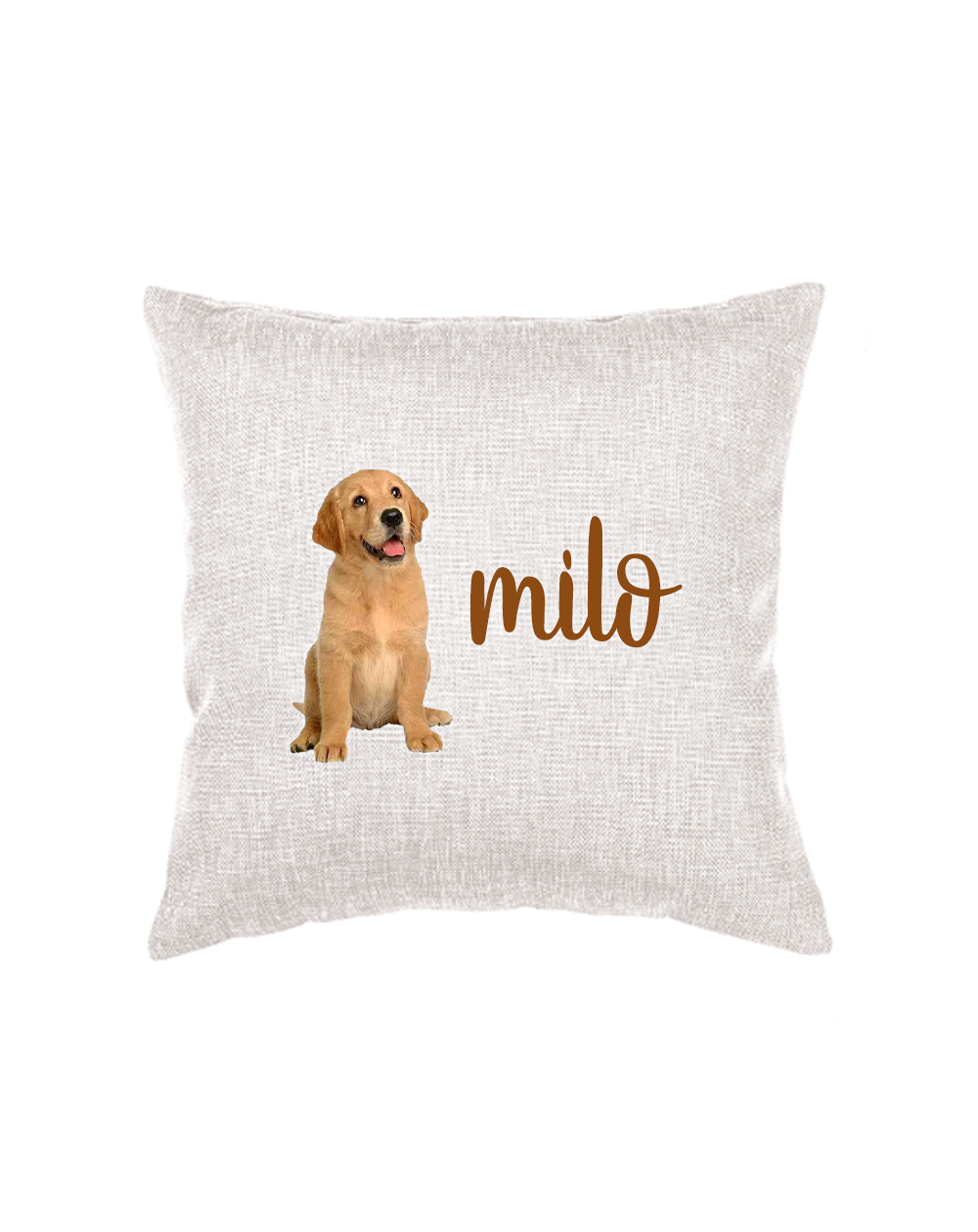 Throw Pillow with Dog Photo