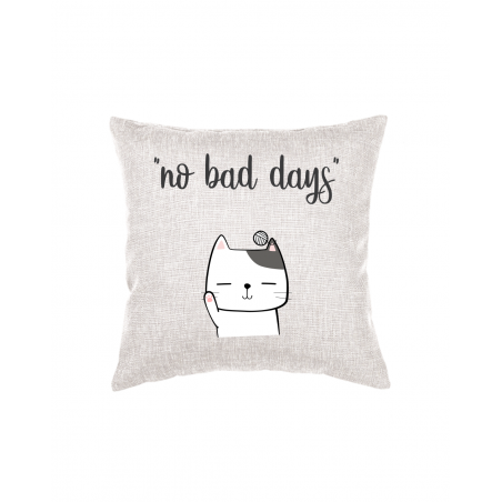 Throw Pillow with text and graphics Cat