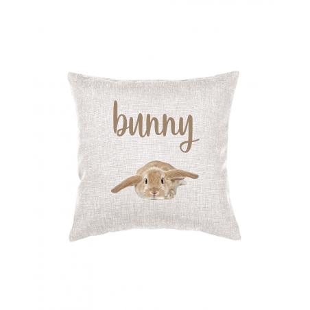 Cuscino decorativo con foto coniglio