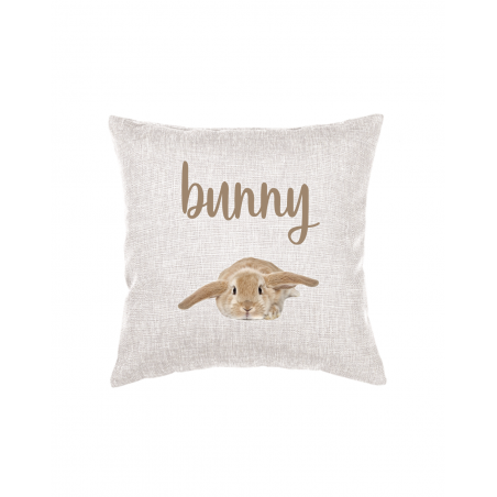 Throw Pillow with Bunny Photo