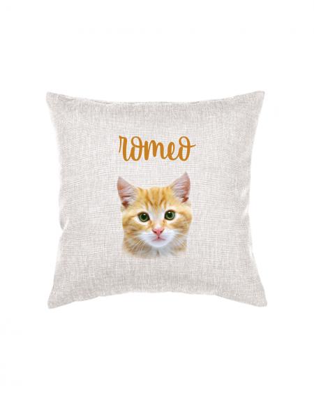 Cuscino decorativo con foto Gatto