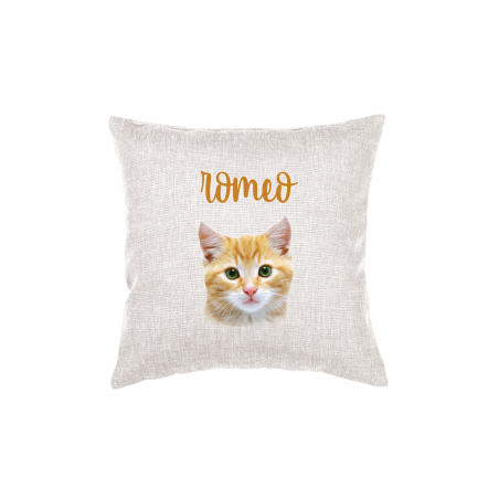 Throw Pillow with Cat Photo